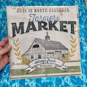NEW Farmers Market Calendar 2021 Farmhouse Theme